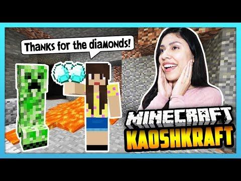 A FRIENDLY CREEPER HELPED ME FIND DIAMONDS! - Minecraft Survival: KaoshKraft SMP 3 - EP 89