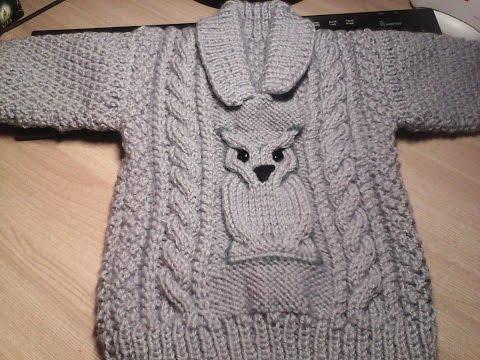 вязание детского свитера на 1 год спицами