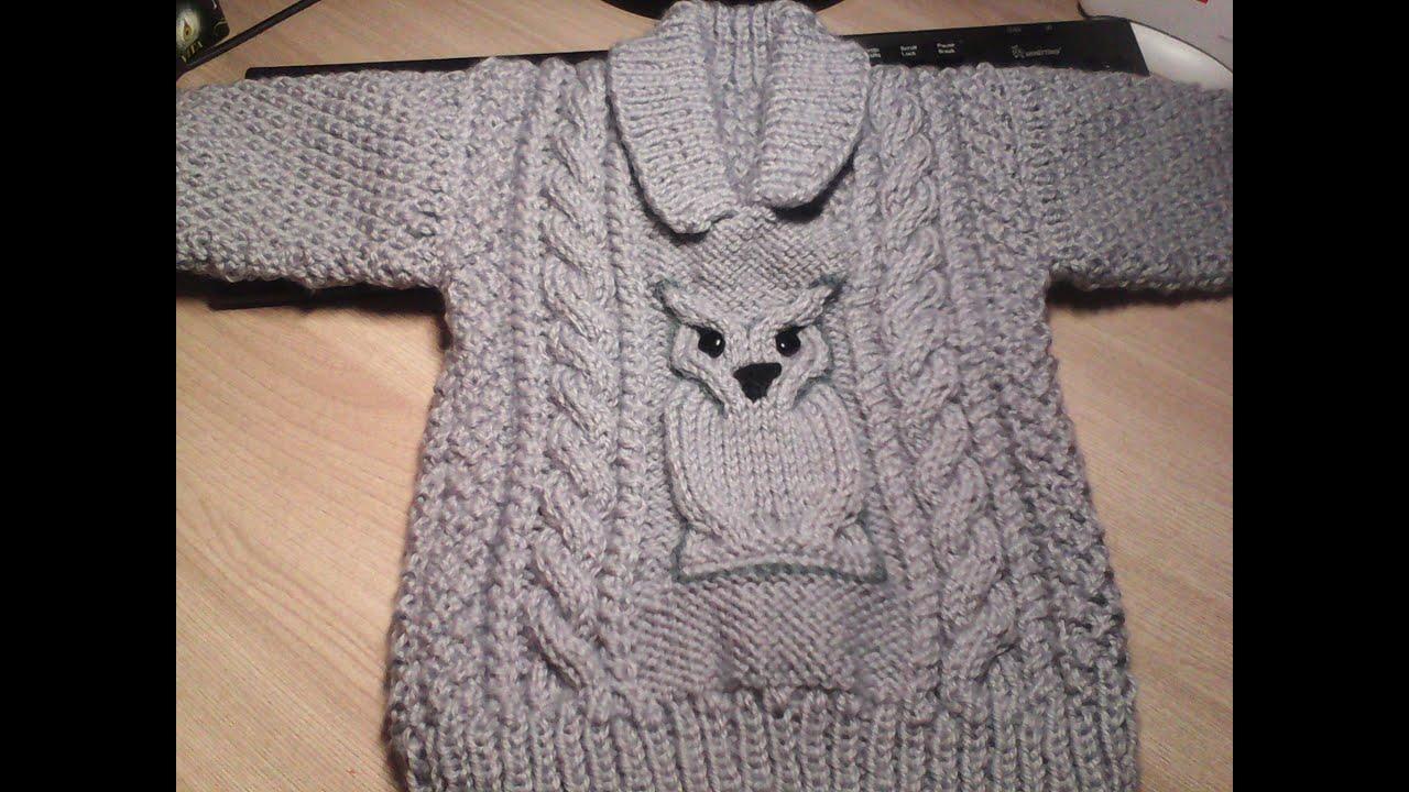 Ютуб вязание на спицах свитера 1