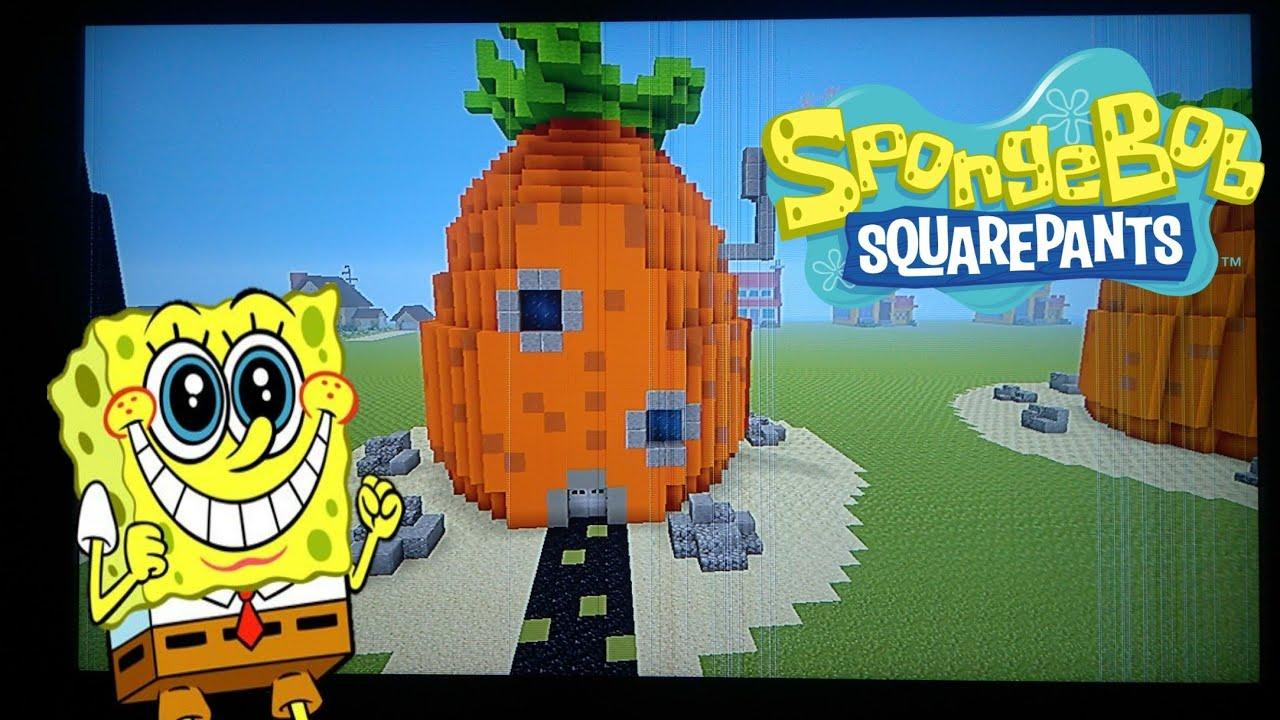 Minecraft How To How To Build Spongebob House Spongebob Squarepants Youtube