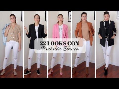 5cd03e7f2 22 LOOKS CON PANTALÓN BLANCO - Marilyn s Closet - YouTube