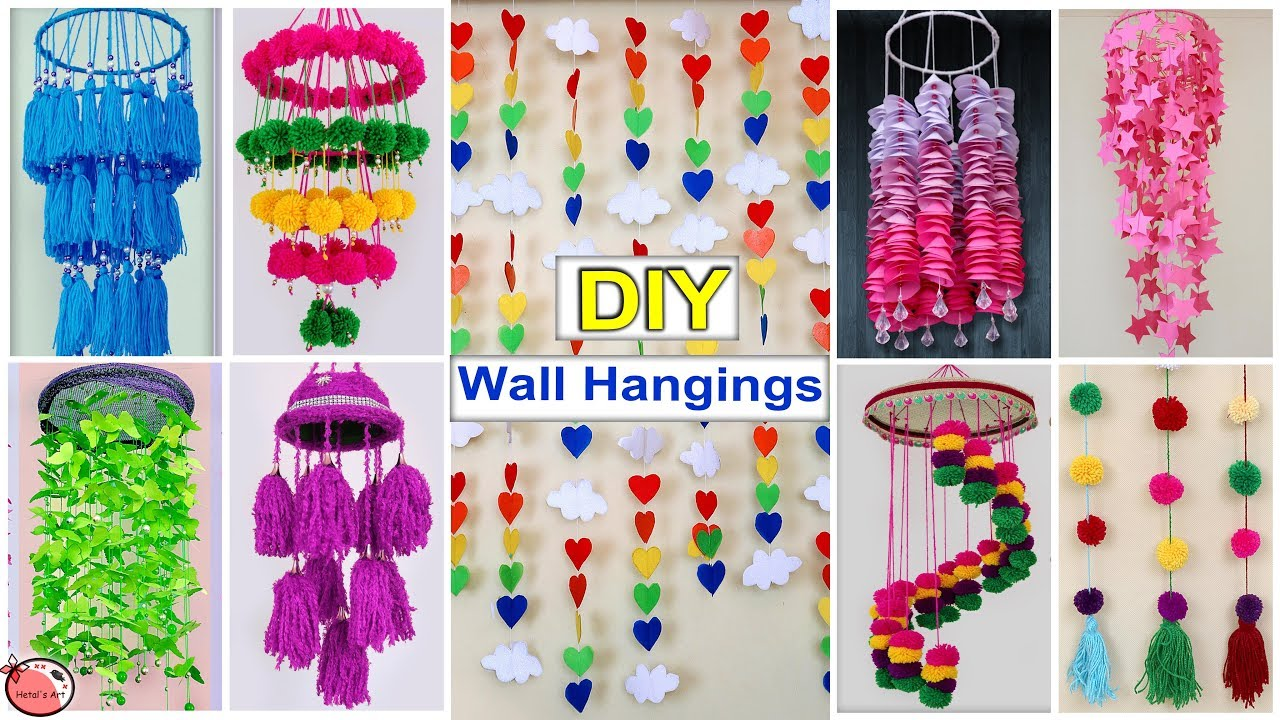 10 Diy Room Decor Easy Wall Hanging Craft Ideas At Home Youtube