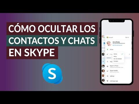 Cómo Ocultar los Contactos y Chats en Skype Fácilmente