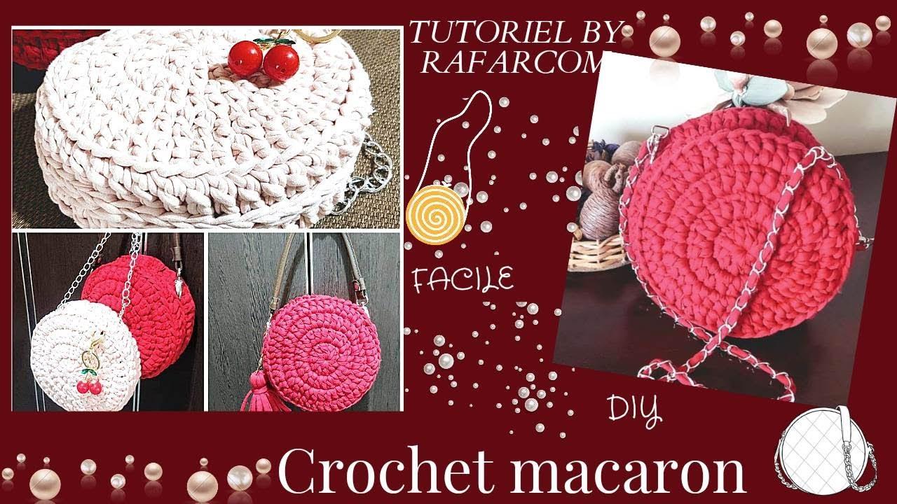 crochet sac macaron
