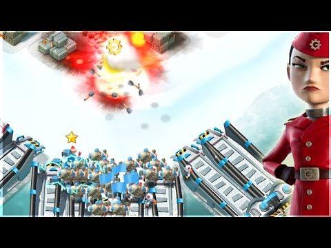 Boom Beach GRENADIER SPAM Takes on War Factory!!