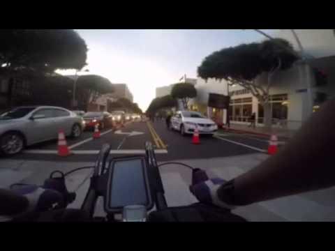 LA Marathon bike ride 2015 / Streets of Santa Monica & Pier