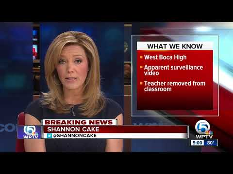Palm Beach County School police are investigating whether a teacher hit a student at West Boca High