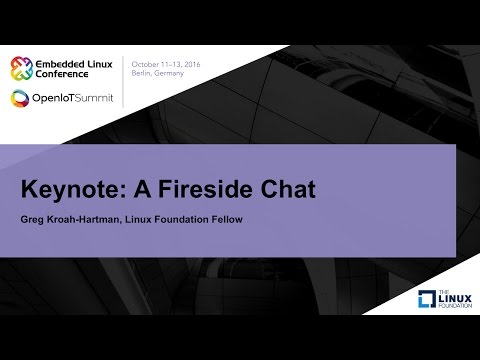 Keynote: A Fireside Chat with Greg Kroah-Hartman, Linux Foundation Fellow