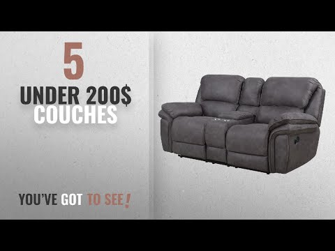 Top 10 Under 200$ Couches [2018]: Bradford Living KPI001005 Atlantic Reclining Console, Power
