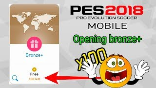 PES 2018 Mobile bronze+ 100 packs opening | Открываю 100 паков бронза+