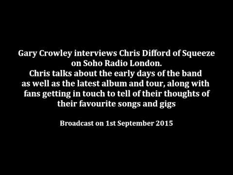 Gary Crowley interviews Chris Difford , 1st September 2015
