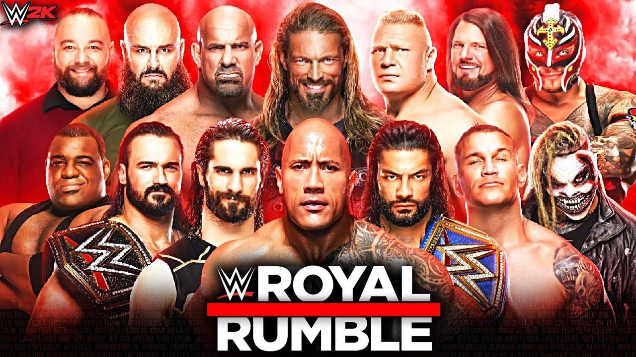 WWE Royal Rumble 2021 - 30 Man Royal Rumble Match! WWE 2K Prediction -  YouTube