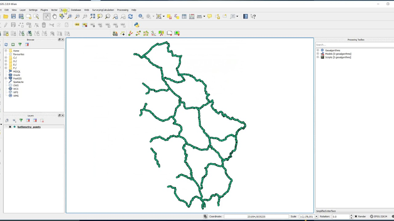 Qgis How To Make Bathymetry Maps Youtube