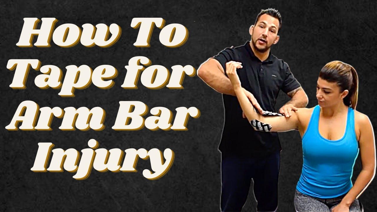 kinesiotaping for armbarhyperextension injury youtube