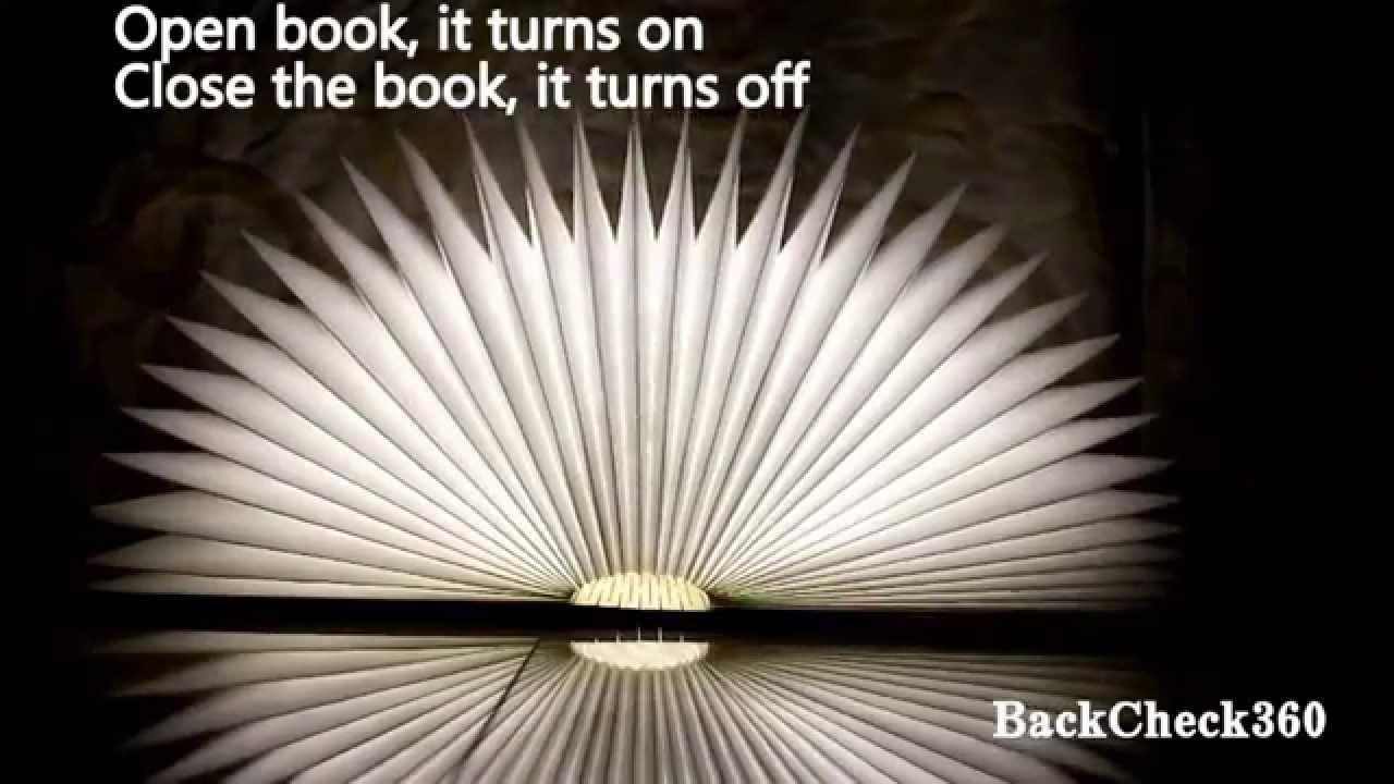 BackCheck 360 LED Folding Book Lamp Night Light ~ Lumio Like ~ Better! Like  Seen On TV Shark Tank   YouTube