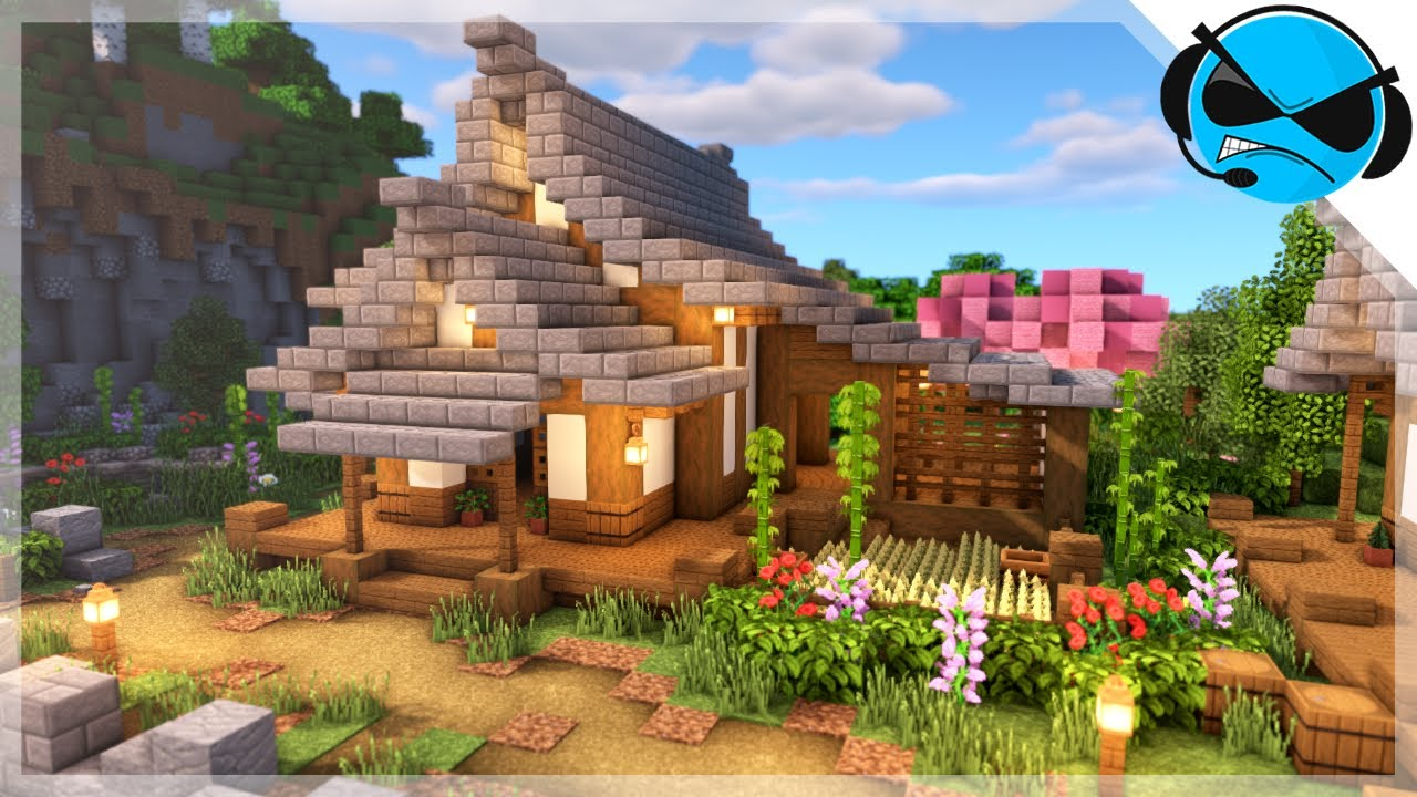 Minecraft How To Build A Large Japanese House Minecraft Build