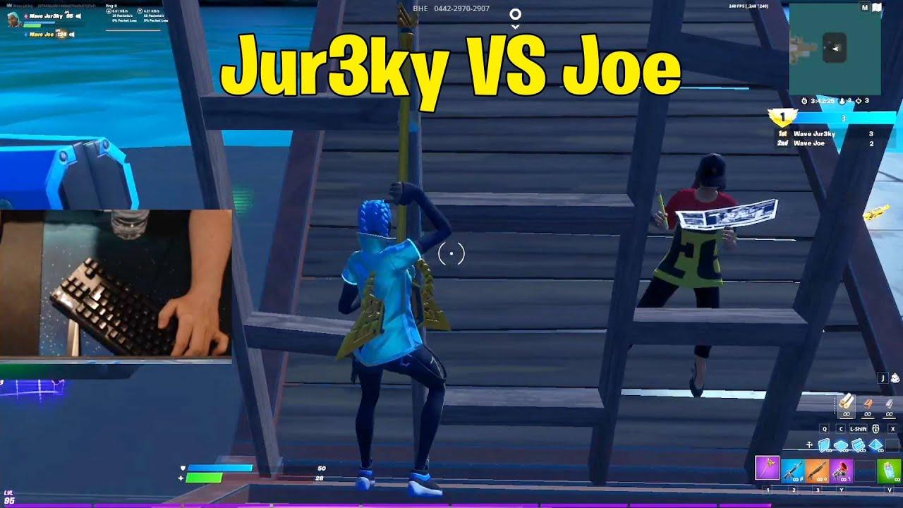 Jur3ky VS Wave Joe 1v1 Buildfights! Fortnite 1v1
