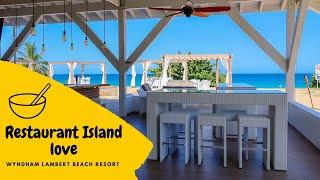 Wyndham Lambert Beach Resorts incredible Restaurant
