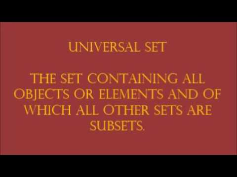 Universal Set Subsets And Venn Diagram Youtube