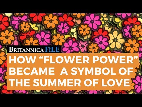 How  Flower Power  Became a Symbol of the Summer of Love
