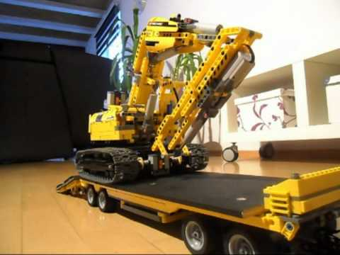lego technik 6x4 dump truck drawbar trailer youtube. Black Bedroom Furniture Sets. Home Design Ideas