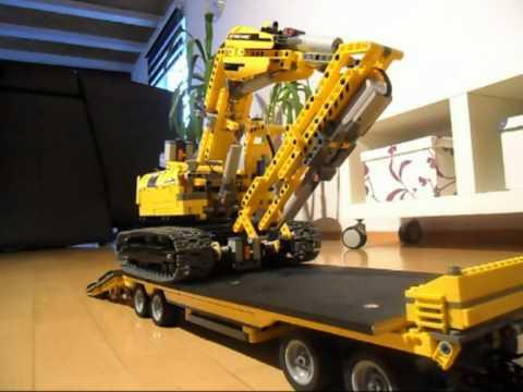 Lego Technik 6x4 Dump Truck Amp Drawbar Trailer Youtube