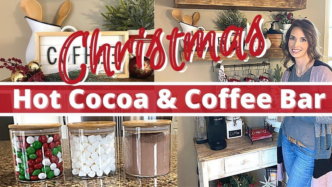 Utube 2021 Christmas Coffee Cicoa Bar Christmas Hot Cocoa Coffee Bar Christmas 2020 Decorate With Me Diy Coffee Bar Ideas Youtube