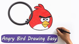 ✅ Angry Bird Drawing  ( How to draw Angry Bird easily )