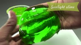 Sunlight Slime Tutorial & Mama Lime Slime Tutorial - Super Clear Slime
