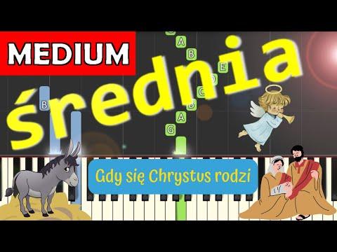 🎹 Gdy się Chrystus rodzi - Piano Tutorial (średnia wersja) 🎹