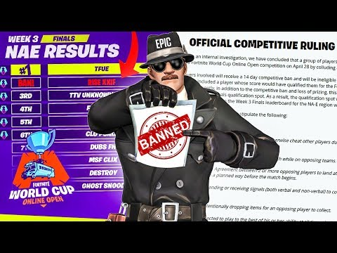 Fortnite Pro BANNED For CHEATING in THE WORLD CUP QUALIFIER