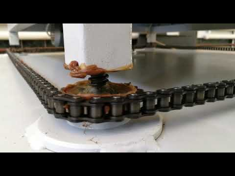 142/Подъёмный механизм на этикетировочном автомате ЭМ-62/Регулировка высоты наклейки этикеток