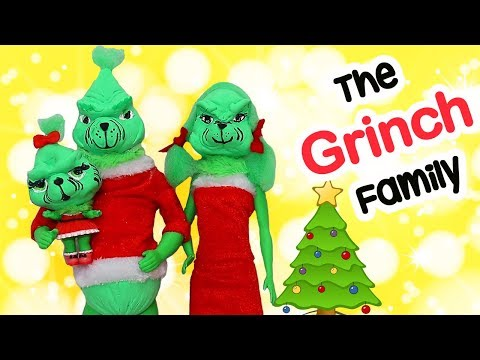LOL Dolls Families ! The Grinch Family Gets a Christmas Tree | Toys and Dolls Pretend Play for Kids