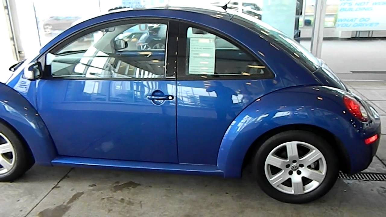 Laser Blue 2007 Vw Beetle Eastside Volkswagen In