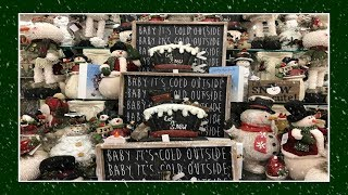 Shop With Me Christmas Home Decor At Hobby Lobby! 2018