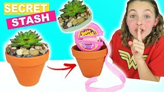 How To Make DIY Super Secret Stash Plant | Easy Kids Crafts With Ava | Secret Compartment