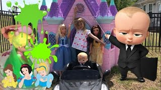 Disney Princess Castle Boss Baby Wrong Heads Slime Castle Cinderella Power Wheels Rapunzel  Belle