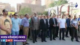 بالفيديو.. تشييع جثمان نقيب شرطة بالفيوم فى جنازة عسكرية