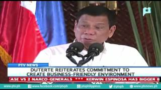 Download Video President Rody Duterte reiterates commitment to create business-friendly environment MP3 3GP MP4