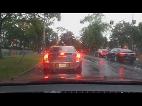 ✅ [ASMR] Driving In The Rain [Wind, Rain,Traffic,Wipers,Turn signals]