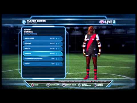 AFL LIVE 2: Footy Factory - Editing a Player