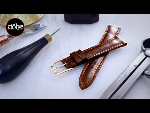 make a watch strap with aramid fabric  | leather watch strap | leather craft
