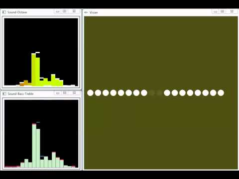 Simple FFT Audio Spectrum Analyzer demo - OpenGL + OpenCV Visualization