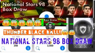 NEWEST Black Ball Working Trick in National Stars 98 Box Draw - PES 2018 mobile
