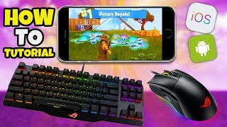 Clavier - Mouse HACK / CHEAT Fortnite Mobile - Fortnite IOS Android Controller Secret MOD