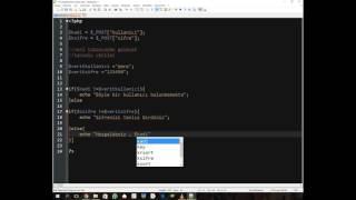 PHP Dersleri - Üye Giriş Formu Oluşturma ve Kontroller