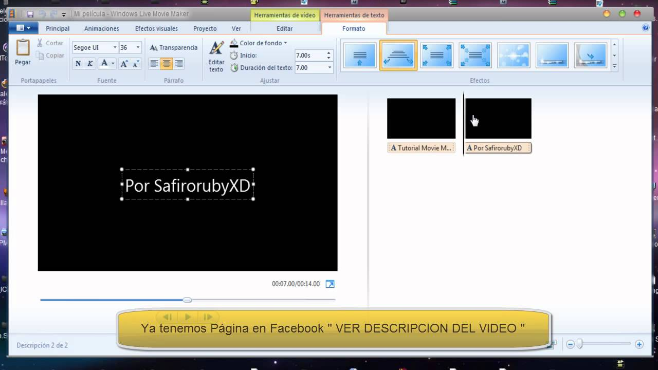 Movie maker windows 7 creando una intro cortar sonido y for Como anotarse en procrear 2016
