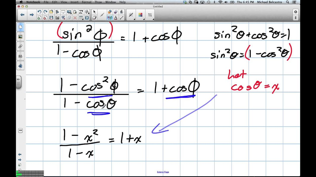 hight resolution of Trig Identities Grade 11 University Lesson 5 5 1 31 13 - YouTube