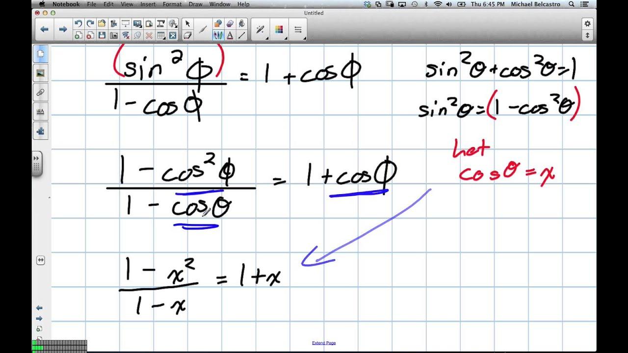Trig Identities Grade 11 University Lesson 5 5 1 31 13 Youtube