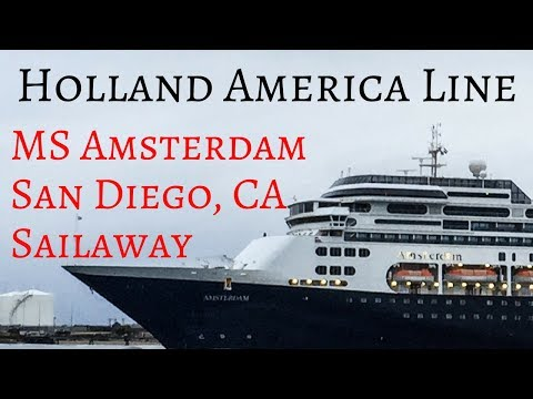 Holland America MS Amsterdam Sailaway San Diego California Vancouver Canada